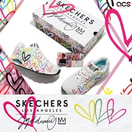 Skechers 休閒鞋 Uno 女鞋 JAMES GOLDCROWN 聯名款 白 愛心【ACS】 155507WMLT