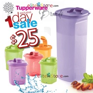 TUPPERWARE Fridge Bottle 2L / Strainer / Pouch / Mini Pour Fits Fridge Door Compartment Perfectly