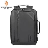 ARCTIC HUNTER ดำเนินการในการเดินทางกระเป๋าเป้สะพายหลังสมาร์ท USB แล็ปท็อปโรงเรียนกระเป๋าเป้สะพายหลังกระเป๋ากันน้ำขนาดใหญ่สีดำ