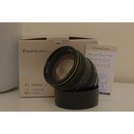 Kamlan 50 mm F1.1 二代 FX(富士)