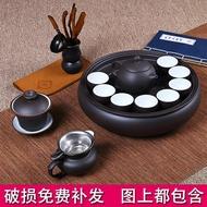 茶具茶壺茶杯紫砂功夫茶具套裝現代家用簡約潮汕整套陶瓷茶盤茶壺茶杯泡茶套裝