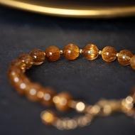 銅髮晶手鍊 | 巴西銅鈦晶手鏈 招財辟邪健康 | 客製天然水晶禮物
