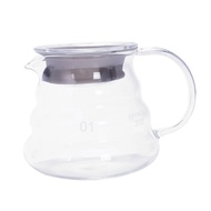 V60 Pour Over Glass Range Coffee Server Carafe Drip Coffee Pot Coffee Kettle Brewer Barista Percolator Clear 360Ml