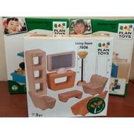 [二手]plan toys木製(廚房/客廳/浴室)積木組,九成新