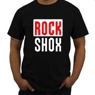 DIY風格的男人t恤ROCK SHOX徽標t恤時尚棉