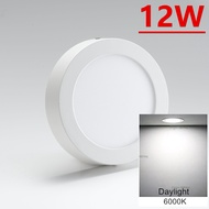 12w 7-Inch LED Surface Downlight Round Daylight(White)