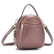 Royal Baggerกระเป๋าเป้สะพายหลังสำหรับผู้หญิง,กระเป๋าหนังวัวแท้กระเป๋าเดินทางใบเล็กแฟชั่นใหม่ปี2019