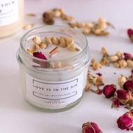 Soy wax candle with lavender vanilla aroma