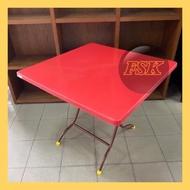 3V Square Plastic Table 2'x3' & 3x3'/Folding Table/Meja Lipat