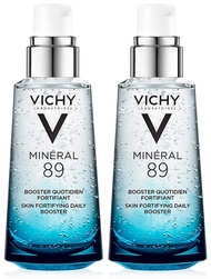Vichy Mineral 89 Daily Skin Booster Serum and Moisturizer, 1.69 Fl. Oz, 2-Pack