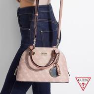 GUESS-女包-印花壓紋LOGO斜背包-粉紅