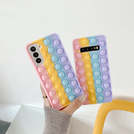 【New products in stock】Case For Huawei Nova 3 3i 4 5 5T 6 7 SE 8 Pro Y9 Y9s Prime 2019 Y8P Honor 20 8X 9X P30 P40 Mate 30 40 Pro Cases Cover Reliver Stress Pop Fidget Toys Push It Bubble Antistress Sensory Game Kids