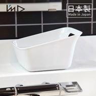 【日本岩谷Iwatani】RETTO曲面一體簡約方形浴室舀水盆-2色可選(水瓢 沐浴 盥洗 洗澡)