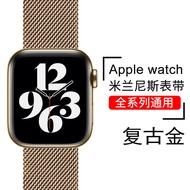 L&Y/หลิงหยาง สำหรับ Apple Watchiwatchสายรัดapplewatch6มิลานนีซiwatch6/5/4/3/2S42mm/38/44/40Tideแบรนด์โลหะSEบุคลิกภาพseries