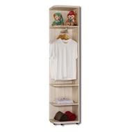 【BODEN】妮絲1.5尺轉角衣櫃/開放式衣櫃/牆角衣櫃(可左右擺放)