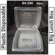 BX-290 (50pcs) Plastic Disposable Big Lunch Box/ Food Container