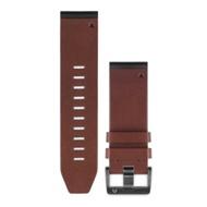 GARMIN QUICKFIT 26mm 咖啡棕皮革錶帶