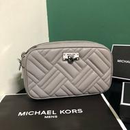 MK 小羊皮真皮壓紋側背包 經典灰 側背包 肩背包 MICHAEL KORS 現貨 美國代購