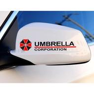 Umbrella Rear View Mirror Sticker With Rear Mirror Sticker