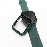 APPLE WATCH Series 5 4 3 2 1 Matte Plastic bumper Hard Frame Case พร้อมฟิล์มแก้วสำหรับ I Watch Screen Protector