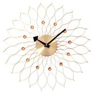 a.cerco 太陽花鋁製掛鐘-金色