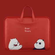 We Bare Bears Laptop Bag 15.6/14/13.3in Notebook MacBook Briefcase Handbag PC Tablet Protective Sleeve Case Travel Carry Bags