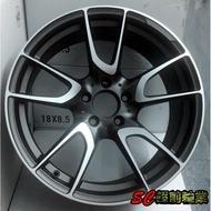 【超前輪業】編號(427) 類AMG E43 18吋鋁圈 5孔114 112 108 可前後配 灰底車面 全新特價