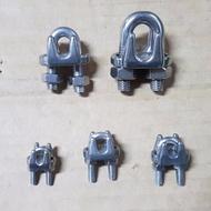 附發票白鐵鋼索夾 不鏽鋼鋼索固定夾 不銹鋼鋼鎖固定器 螺絲夾 白鐵鋼鎖夾