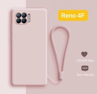 CASE OPPO RENO 4F RING TALI CANDY DOFF CASING COVER SILIKON SOFT CASE HANDPHONE