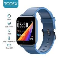 Todex ดูสมาร์ท L8 HD 2.5d หน้าจอ IP68 warerproof การตรวจสอบสุขภาพที่แม่นยำการฝึกอบรมการหายใจมืออาชีพกีฬาดูสมาร์ทสำหรับ Apple/Android