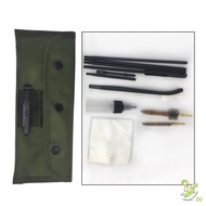 10 Pcs 22 22LR 223 556 Rifle Cleaning Kit With Carry Bag Clean Rod Nylon Brush Set