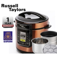 Russell Taylors 6L Dual Pot Pressure Cooker PC-60 (2 Pots + Steam) Rice Cooker