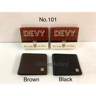 แฟชั่น กระเป๋าสตางค์  Devy no. 101 หนังแท้ สีดำ และ ตาล