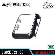 Acrylic Watch Case เคสนาฬิกากันกระแทกบาง สวยงาม น้ำหนักเบา สำหรับ Apple Watch Series 2-3 # Qoomart