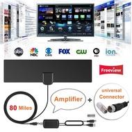 80郵件電視天線,室內數字高清電視天線放大範圍4K HD VHF