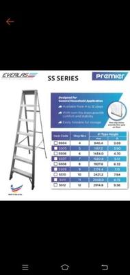 Everlast Premier Heavy Duty 4 5 6 7 8 9 10 11 12 Steps Hardness Aluminium Single Sided Ladder