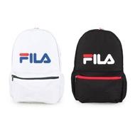 Fila大容量輕巧尼龍後背包-黑色/白色-當日現貨
