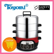 Toyomi ST 9130 3-Tier Stainless Steel Steamer And Hot Pot 1 Year Warranty