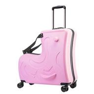 เด็กกระเป๋าเดินทางแบบลาก Spinner กระเป๋าเดินทางล้อลากเด็กรถเข็นโดยสารกระเป๋าเดินทางเด็กน่ารักเด็กพกพา Trunk สามารถนั่ง Ride