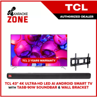 TCL 43 inch 4K Ultra-HD LED AI Android Smart TV (LED43P717) TCL Android Smart Led TV with 2 years PH warranty with FREE WALL BRACKET and Ships with Wooden Crate - Karaoke Zone