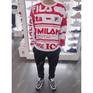 {限量} FILA #米蘭 SNBN系列 長袖T恤 2020米蘭時裝週 滿版 米蘭 限量發行 ins