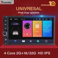 4G RAM Android 10 AutoวิทยุQuad Core 7 นิ้ว 2DIN Universalรถไม่มีเครื่องเล่นดีวีดีมัลติมีเดียGPSสเตอริโอหัวเสียงDAB OBD
