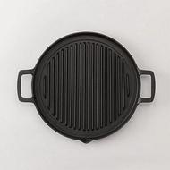 日本鑄鐵鍋南部鐵器 岩鑄 iwachu 鑄鐵燒烤盤 25cm 烤盤 露營 野餐