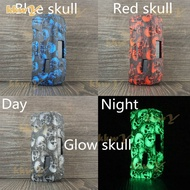 (kkwy case) Skull Cover for  geekvape Aegis max 100w Silicone Case Sleeve Skin Shield decal sticker leather