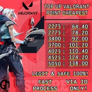 ﹊❏TOP UP VALORANT POINTS 2275 - 5050 CHEAPEST TOPUP VALORANT POINT (2)