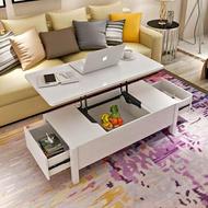 升降茶几 創意可升降茶幾簡約現代餐桌兩用小戶型客廳茶幾桌折疊多功能
