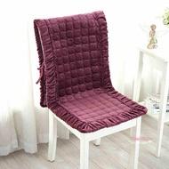 一體坐墊 毛絨餐桌椅墊套裝辦公室椅子連身墊坐墊靠墊一體連身椅墊 多款