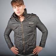 「i」【現貨S號】英國 極度乾燥Superdry Brown Brad Jacket 白牌 咖啡棕 刷舊 貝克漢 皮衣