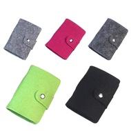 NPIQL แฟชั่นอินเทรนด์กระเป๋าเดินทางใหม่ผู้หญิงผ้าขนสัตว์สำหรับผู้ชาย Felt ขนแกะ24ที่จัดช่องกระเป๋าสตางค์บัตรเครดิตผู้ถือกระเป๋าเคสนามบัตรธุรกิจ