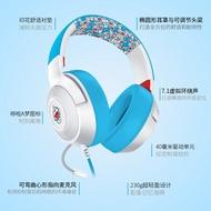 Razer 雷蛇 耳機 |哆啦A夢50周年限定款頭戴式有線音樂遊戲耳機帶麥